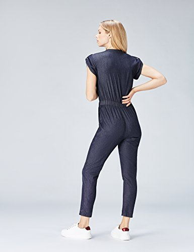 Damen Jumpsuit Demin, Blau (Blue) - 3