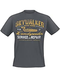 Star Wars Landspeeder Repair T-Shirt grau