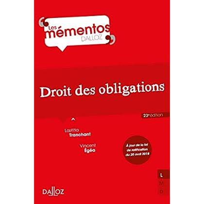 Droit des obligations - 23e éd.
