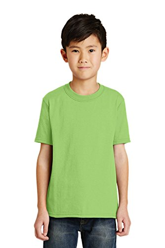 Port & Company® - Youth Core Blend Tee. PC55Y Lime M - Pc55y Port