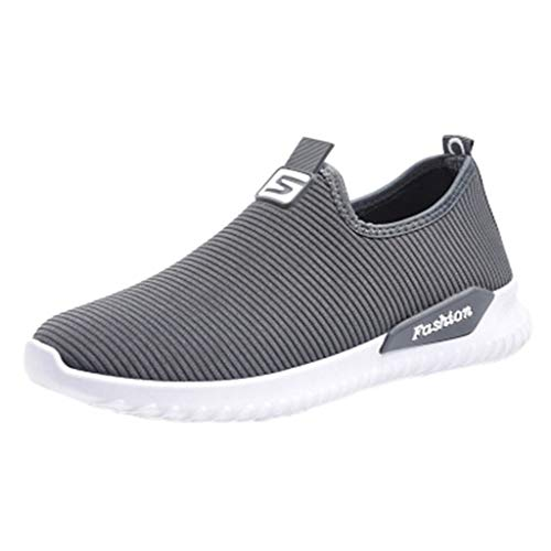 KonJin Women Sneakers Fashion Casual Flats Breathable Stretch Cloth Lightweight Walking Trainers Athletic Running Shoes - Gore Stretch-heels