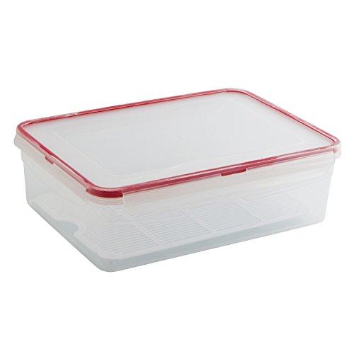 Quid Frigo-Box-Contenitore ermetico Scolapasta con griglia, speciale per formaggio, 4,3 l
