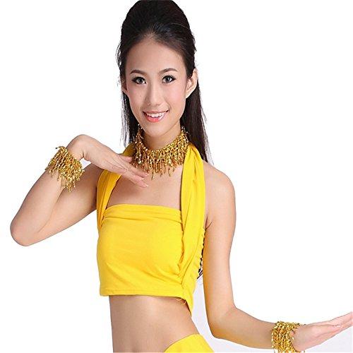 Danza Danza del ventre costume set Sexy Top & cristallo cotone da uomo