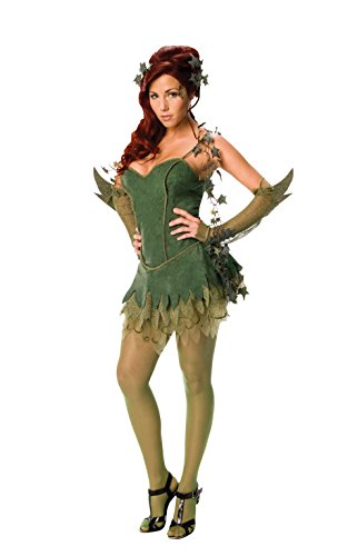 Poison Großbritannien Kostüm Halloween Ivy (Rubie's Costume Co Batman Secret Wishes Poison Ivy Kostüm, grün,)