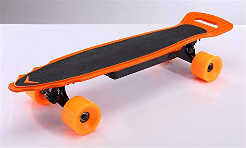 Elektrisches Skateboard Kleines Fisch Skateboard Allrad Artefakt Funkfernbedienung mit Bremse,Gelb -