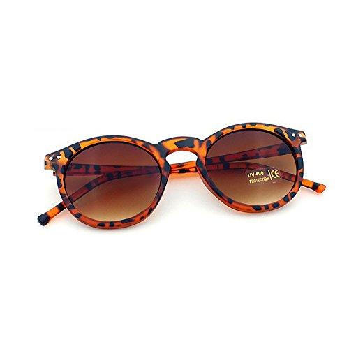 DAY.LIN Ray Ban Sonnenbrille Damen Herren Frauen Fashion Circular Sonnenbrille Metallrahmen Sonnenbrille Marke Klassische Ton Mirr (B)