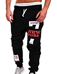Chándal de hombres Amlaiworld Moda Pantalones de chándal de hombre Pantalones casuales para hombres Running Yoga Pantalones Deportes (Rojo, XL)