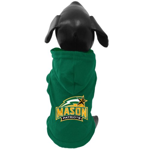 All Star Dogs NCAA George Mason Patriots Baumwolle Lycra mit Kapuze Hund Shirt, groß Hund Hooded Tee