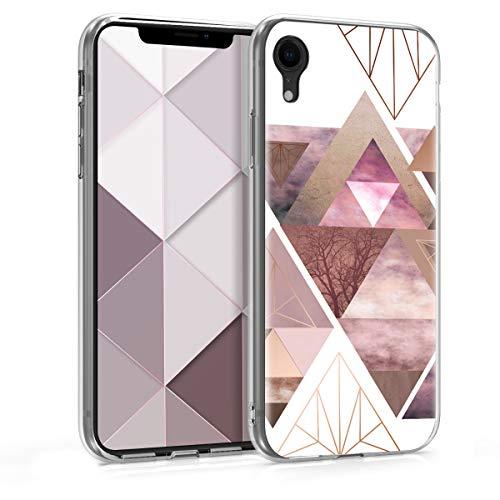 kwmobile Apple iPhone XR Hülle - Handyhülle für Apple iPhone XR - Handy Case in Rosa Rosegold Weiß
