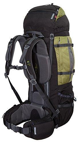 XXL Trekkingrucksack 100L + 20L TASHEV MOUNT S+ aus Cordura® inkl. Regenhülle (Hergestellt in Europa) (Camouflage) Grün