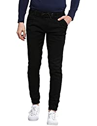Urbano Fashion Men's Black Slim Fit Stretch Jogger Jeans