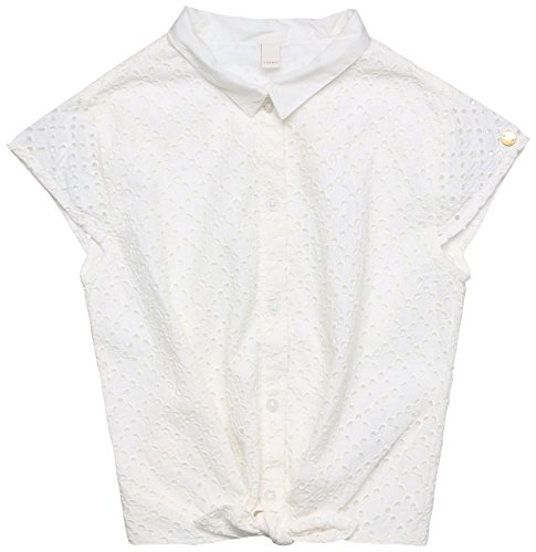 ESPRIT KIDS Mädchen Bluse RL1205503, Weiß (White 010), 134 (Herstellergröße: XS)