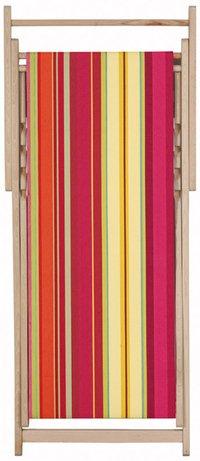 Chaise longue transat chilienne Ceret Cerise - Les Toiles du soleil
