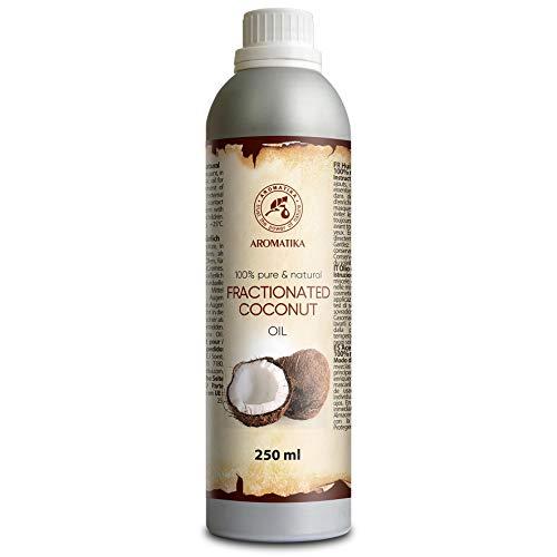 Fraktioniertes Kokosöl 250ml - Cocos Nucifera Oil - 100% Reines & Natürliches Coconut Öl - Basisöl - Geruchlos - Cocosöl für Gesicht - Körperpflege - Hautpflege - Haare - Massage - Kosmetik -