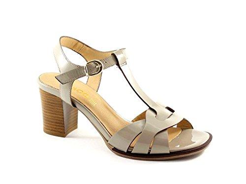 IGI & CO 38533 chaussures de poussière sandales en cuir verni femmes Grigio