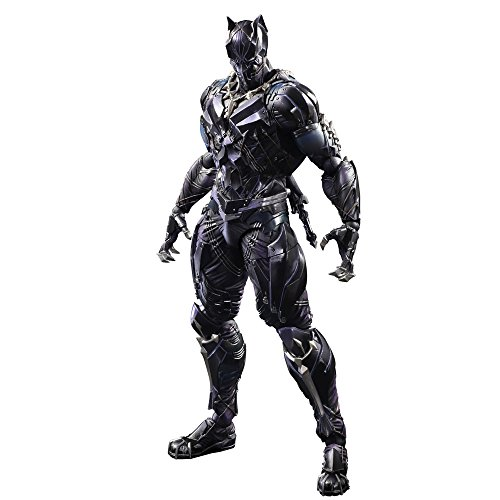 MARVEL UNIVERSE VARIANT PLAY ARTS Black Panther PVC made painted movable...