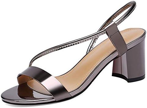 Tacones Altos del Dedo del Pie Redondo De Las Mujeres Sandalias De Moda De La Punta del Pie del Pie Zapatos Romanos...
