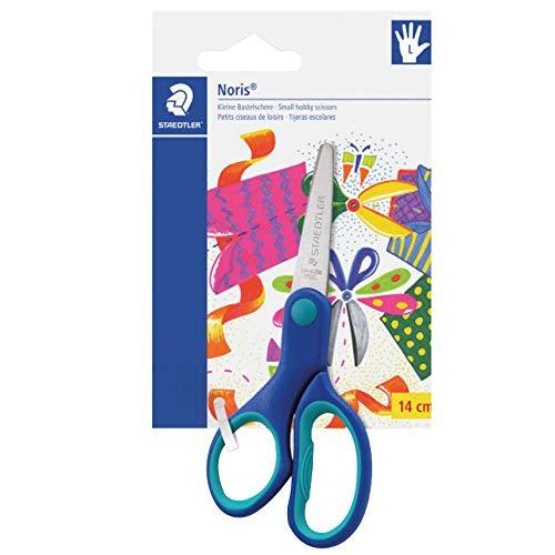 Staedtler, forbici per mancini con punte arrotondate e impugnatura ergonomica, perfette per bambini, 965 14lnbk
