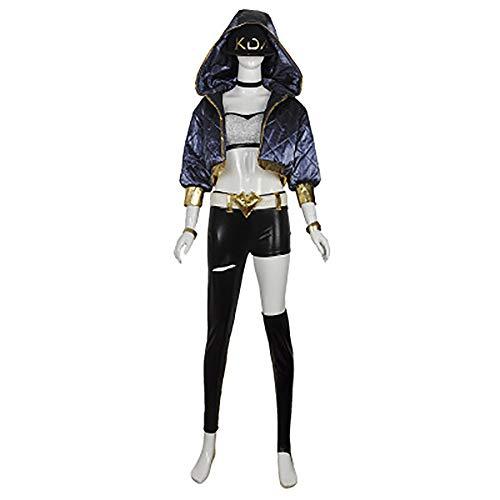 LOL League of Legends Cos KDA Frauen Team Akali Cosplay Kostüm Halloween Party - Akali Cosplay Kostüm