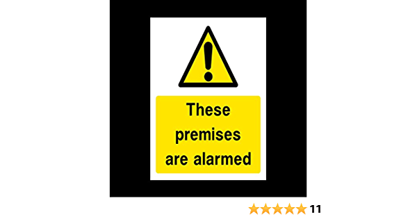 S11 Sticker - CCTV 75mm x 100mm A7 Camera Premises are Alarmed Sign
