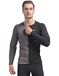 SANANG 3MM Neoprene Wetsuit Shirt Homme à manches longues Protecteur solaire UV Warm Surfing Rash Guard Tops Diving Swimming Jacket