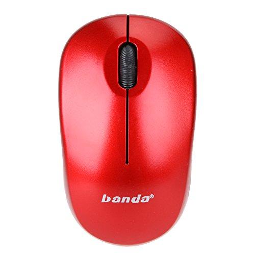 amazingdeal365Maus ohne Fäden/Maus Spiel des USB 2.4GHz 1600dpi für Laptop/Desktop rot - Hi-lo Computer