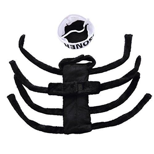 aaa226 Pet Dog Puppy Spider Hundegeschirr Kostüm Halloween Fancy Party (Spider Kostüm Dog)