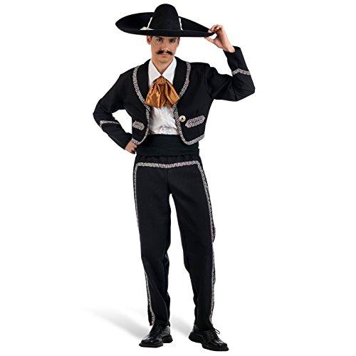 Mexikanischer Musiker Mariachi Kostüm Herren 4-teilig - (Mariachi Kostüm)