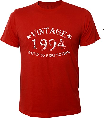 Mister Merchandise Cooles Herren T-Shirt Vintage 1994 Aged To Perfection 20 Jahre Geburtstag Years Rot