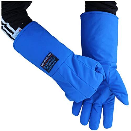 Handschuhe Flüssigstickstoff Schutzhandschuhe Kälteschutzhandschuhe Frostschutzhandschuhe Trockeneis Kälteschutzhandschuhe LNG-Kühlung Trockeneis Warme Handschuhe (Farbe : Blau, Size : L60cm)
