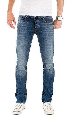 Denim Co (WOTEGA Herren Jeans Alistar slim fit, Blau (Ensign Blue 194026), W34/L32)