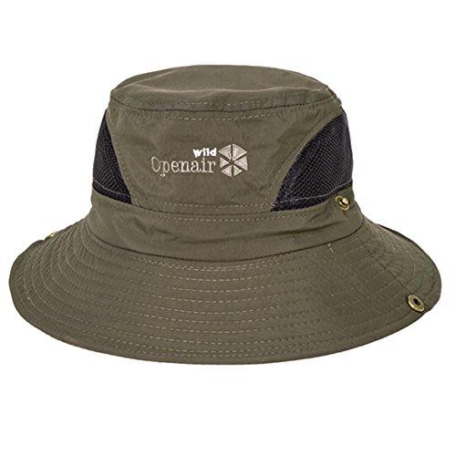 WYYY Chapeaux Hommes Visière Polyester De Coton Pliable Respirant Protection Contre Le Soleil De Plein Air 56-58cm ( Couleur : Deep green )