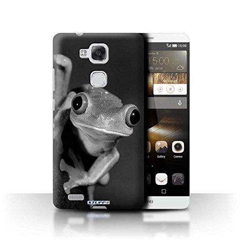 Stuff4® Hülle/Hülle für Huawei Ascend Mate7 / Frosch Muster/Zoo-Tiere Kollektion
