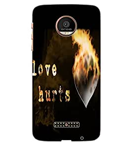 ColourCraft Love Quote Design Back Case Cover for MOTOROLA MOTO Z PLAY DROID