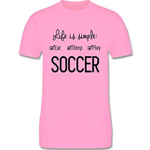 Fußball - Life is simple Soccer - Herren Premium T-Shirt Rosa