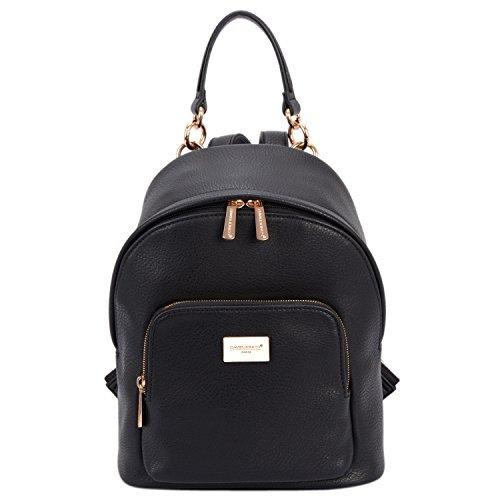 David jones - borsa zainetto borsa a tracolla moda donna ecopelle zaino borsetta a spalla - borsa piccola alla moda signore - elegante stilista chic stile tendenza ragazza - nero