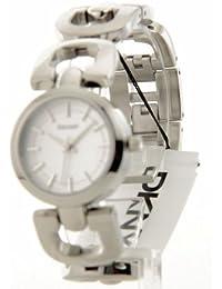 DKNY NY4941 - Reloj para mujeres, correa de acero inoxidable color plateado