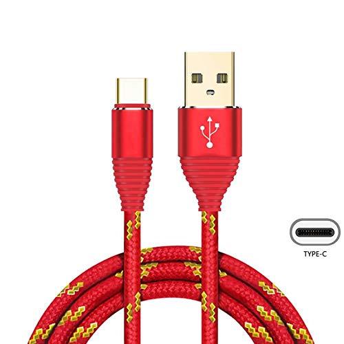 Superior USB Typ C Kabel ZRL® Nylon Litzen USB C Gold-Plated Stecker schnell Ladegerät Ladekabel f. Samsung Galaxy S8, S8+, Note 8, LG V30, V20, Nexus 5X, 6p und mehr (1M/3 ft) - 3' Stecker