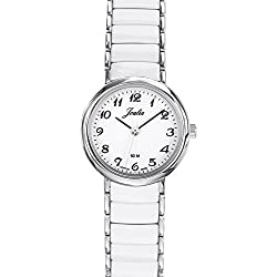Joalia Women's Analogue Watch with White Dial Analogue Display and Stainless steel plated Bicolour - 631144