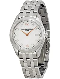 Baume and Mercier Clifton Mother of Pearl Diamond Steel Ladies Watch