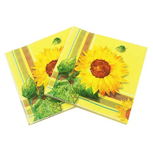ssue Serviette Druckpapier Serviette Einweg Sonnenblume Druck Serviette Tissue für Party ()