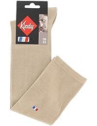Chaussettes hautes unies en coton