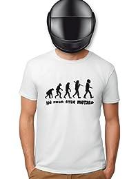 Planète motard - Tee shirt évolution motard - T shirt motard - T shirt moto - T shirt humoristique