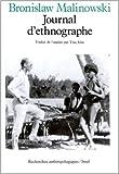 Journal d'ethnographe de Bronislaw Malinowski ( 1 octobre 1985 )