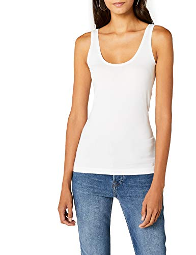 s.Oliver Damen Top 4899344006, Weiß (White 0100), 34
