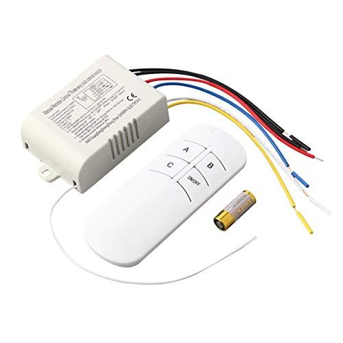 Popular 220 V 3 Vías ON/OFF Interruptor de Control Remoto de RF Digital Inalámbrico Para La Lámpara Ligera Anti-Interferencia Interruptor Blanco
