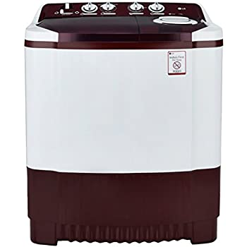 LG 7.5 kg Semi-Automatic Top Loading Washing Machine (P8541R3SA, Burgundy)
