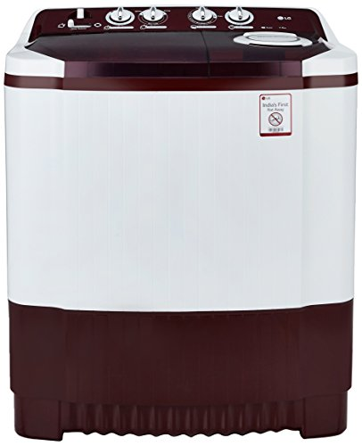 LG 7.5 kg Semi Automatic Top Load Washing Machine (P8541R3SA, Maroon & white)
