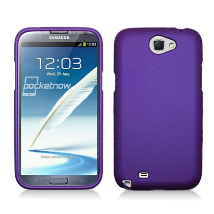 Samsung GALAXY Note II N7100 [Verizon AT&T Sprint T-Mobile US Cellular] Rubberized Hard Shell Case (Purple)