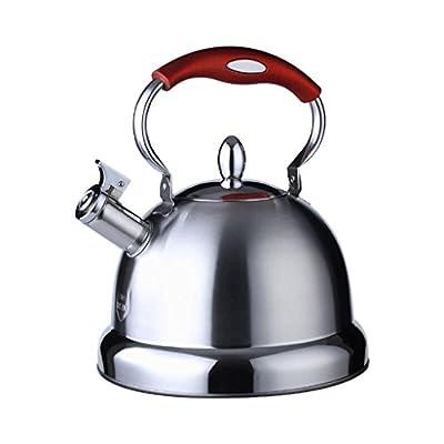 ZHAOJING Bouilloire Sifflet en Acier Inoxydable 304 Bouilloire 5L Grande Capacité Cuisinière à Gaz Cuisinière à Gaz Commune